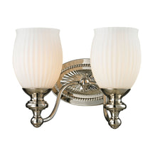 Elk 11641/2 Park Ridge 2 Light Vanity In Polished Nickel & Reeded Glass