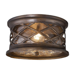 Elk 42037/2 Barrington Gate 2 Light Outdoor Flush Mount In Hazelnut Bronze