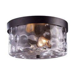 Elk 42253/2 Grand Aisle 2 Light Outdoor Flushmount In Weathered Charcoal