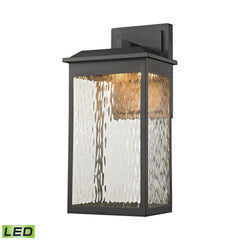 Elk 45201/LED Newcastle Led Outdoor Wall Sconce In Matte Black