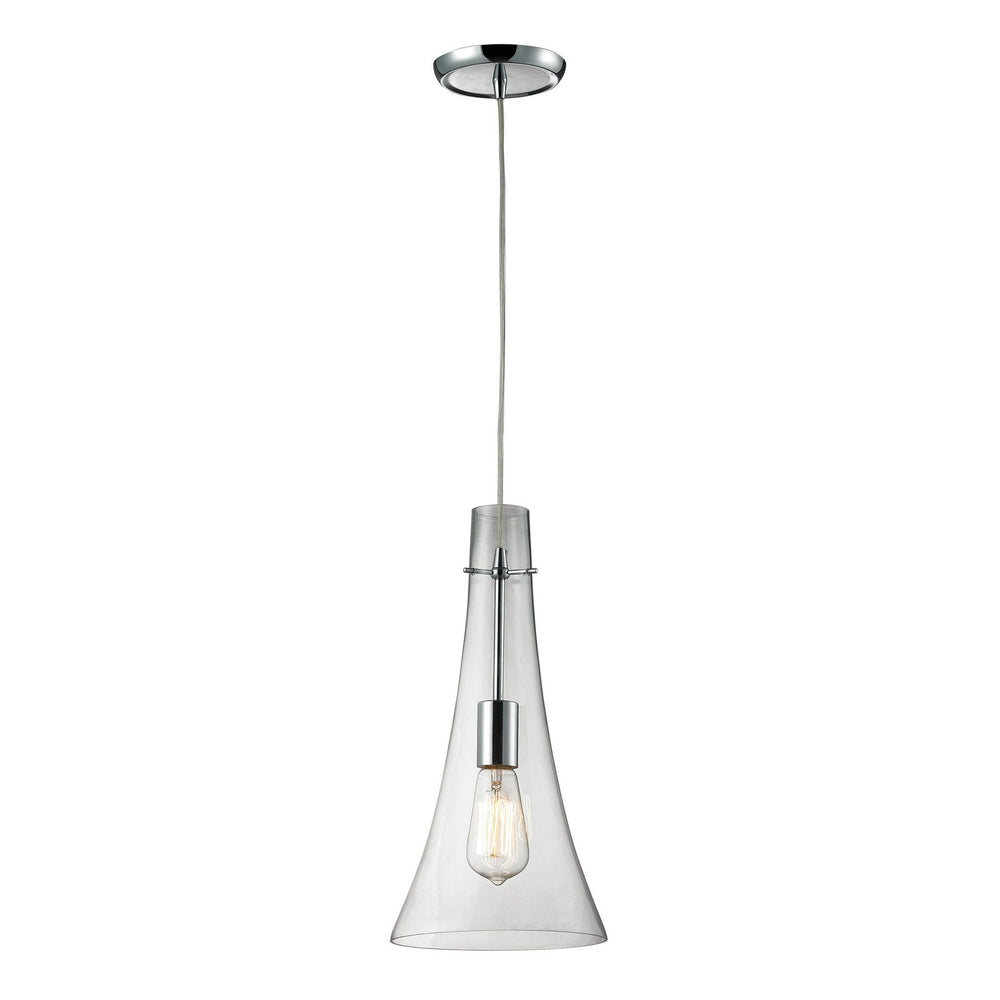 Elk 60055-1 Menlow Park 1 Light Pendant In Polished Chrome