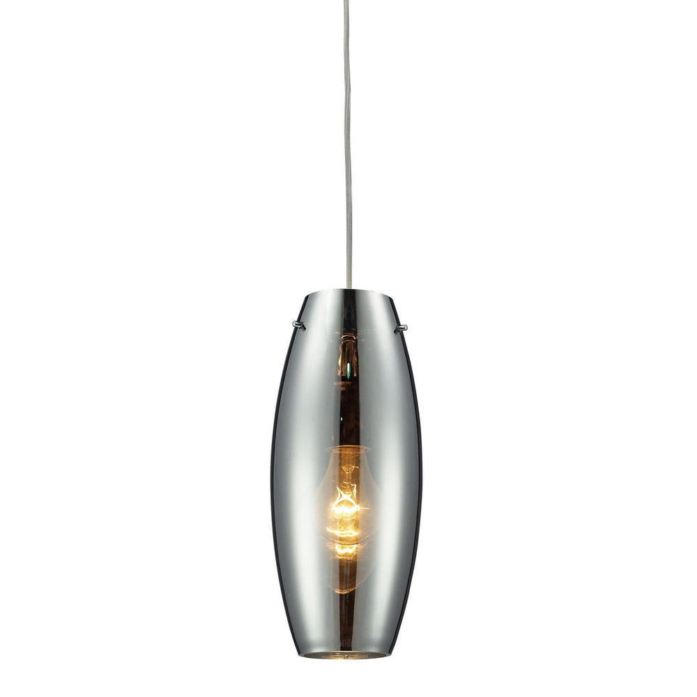 Elk 60064-1 Menlow Park 1 Light Pendant In Polished Chrome