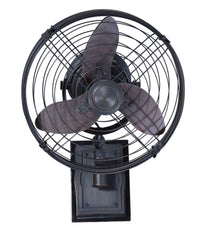 "Ellington FAR14ABZ3W Faraday 14"" Wall Mount Fan in Aged Bronze Brushed with Aged Bronze Brushed Blades"
