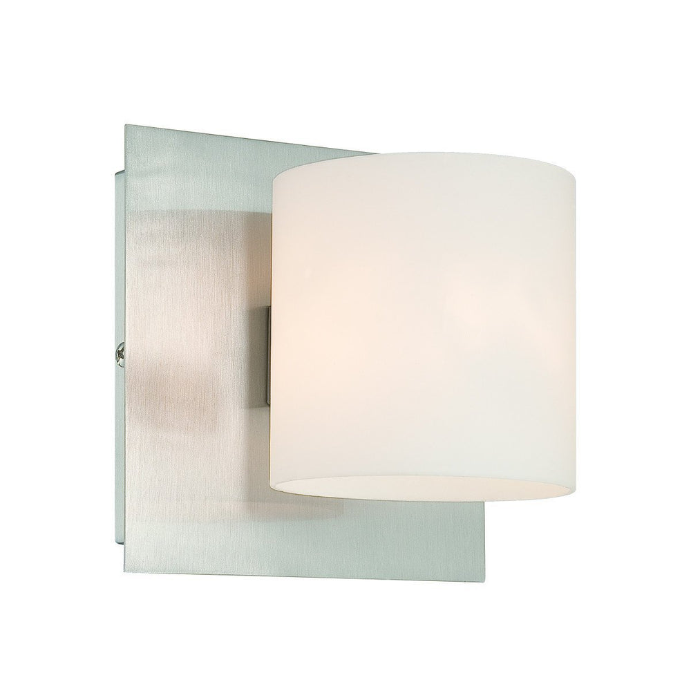 Eurofase 20378-011 Geos 1 Light Sconce Satin Nickel