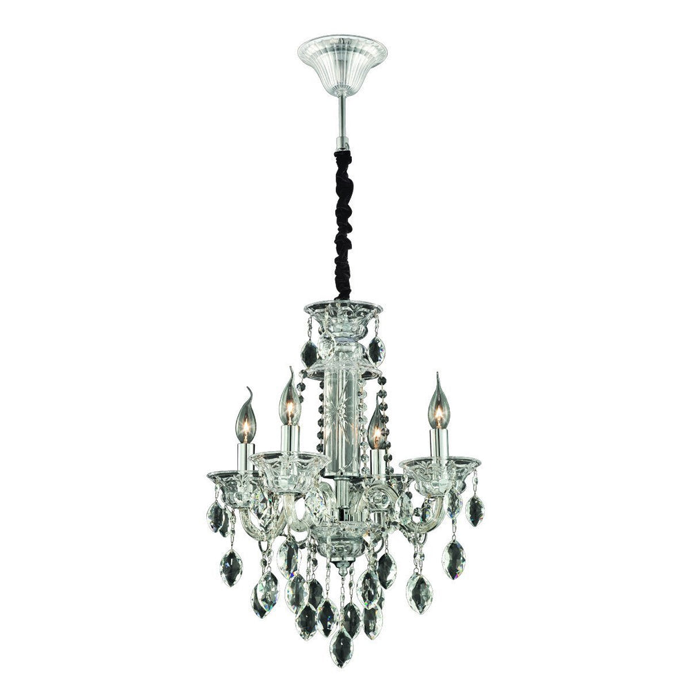 Eurofase 23126-039 Venetian 4 Light Chandelier Clear