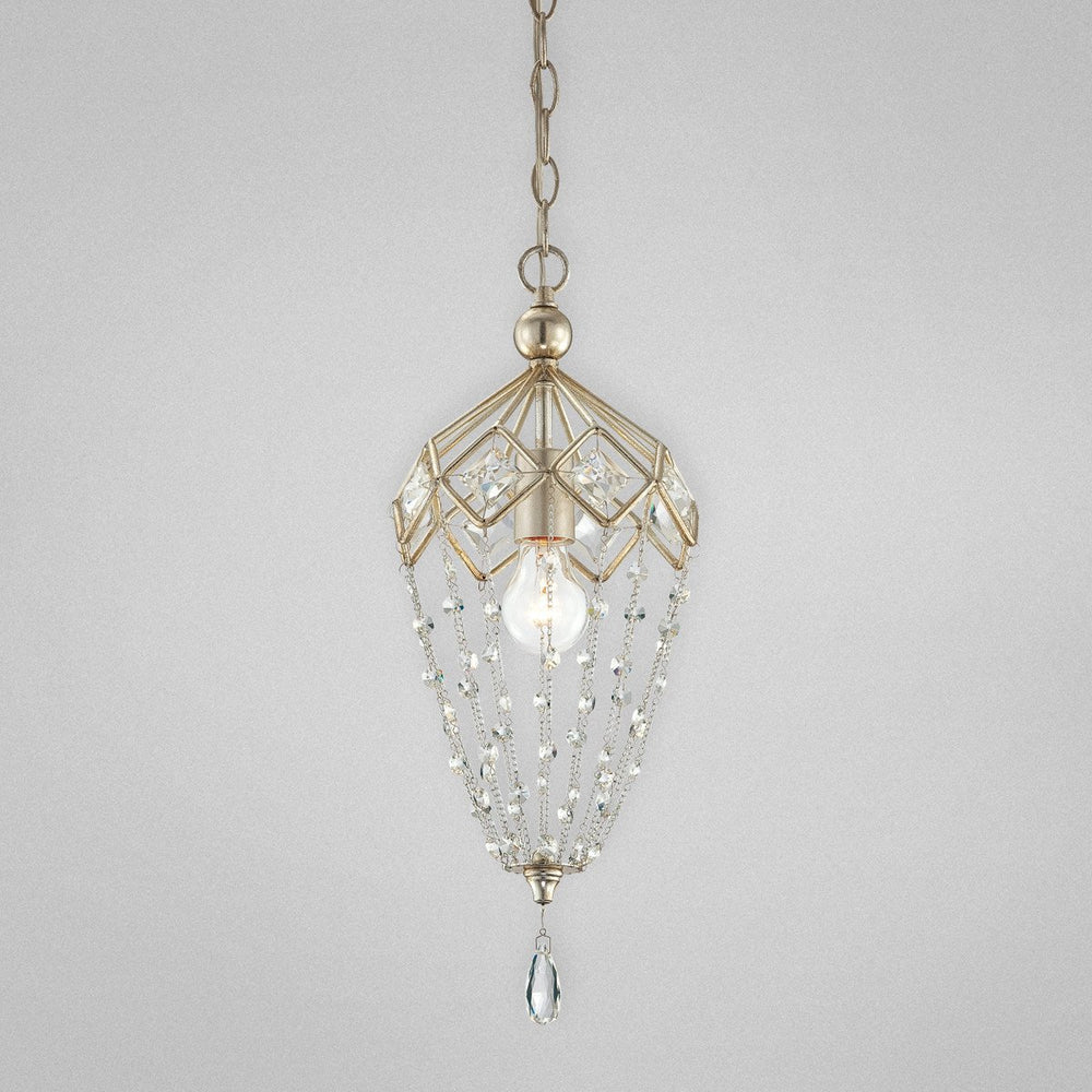 Eurofase 25626-018 Collana 1-light Mini Pendant, Silver Leaf Finish