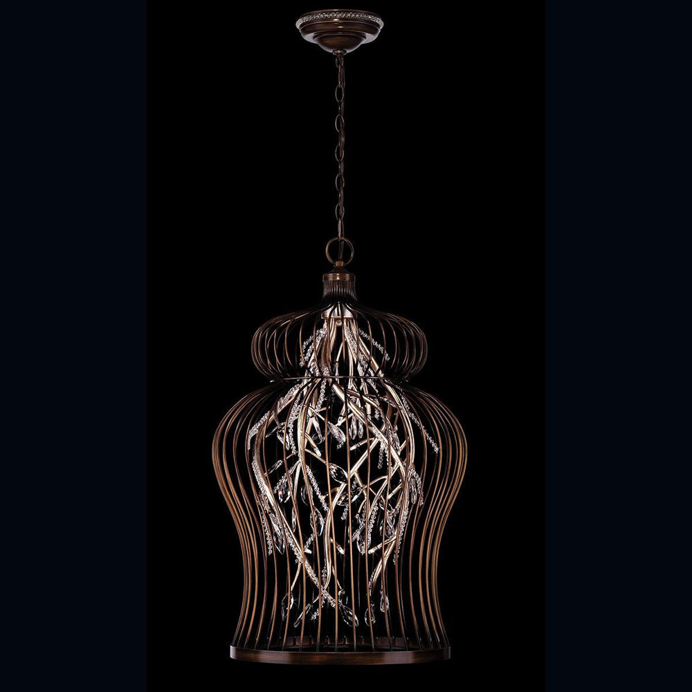 Eurofase 26369-013 Fanta 14-light Chandelier, Oil Rubbed Bronze/silver Leaf Finish