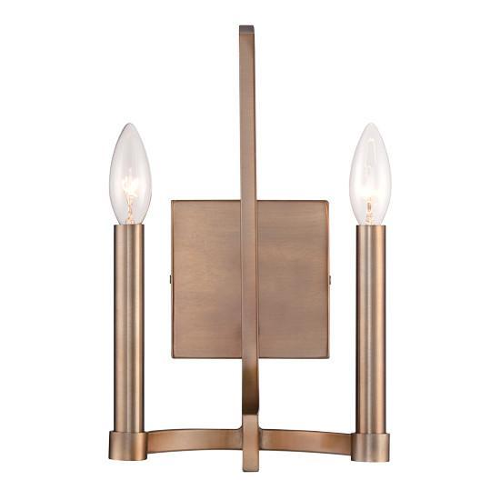 Eurofase 28056-010 Cantu 2-light Wall Sconce, Satin Gold Finish