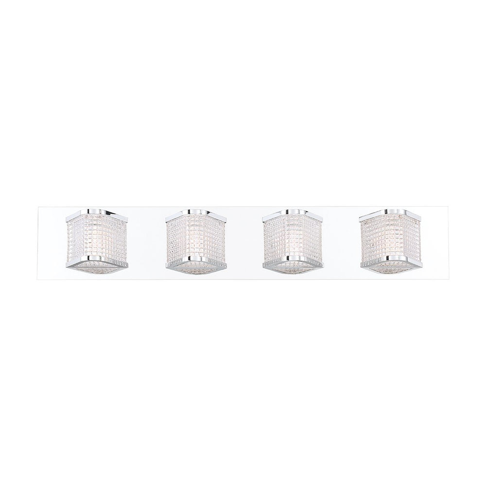 Eurofase Belgroue Belgrove Retro Prism Glass 4 Light LED Vanity Model: 35720-010