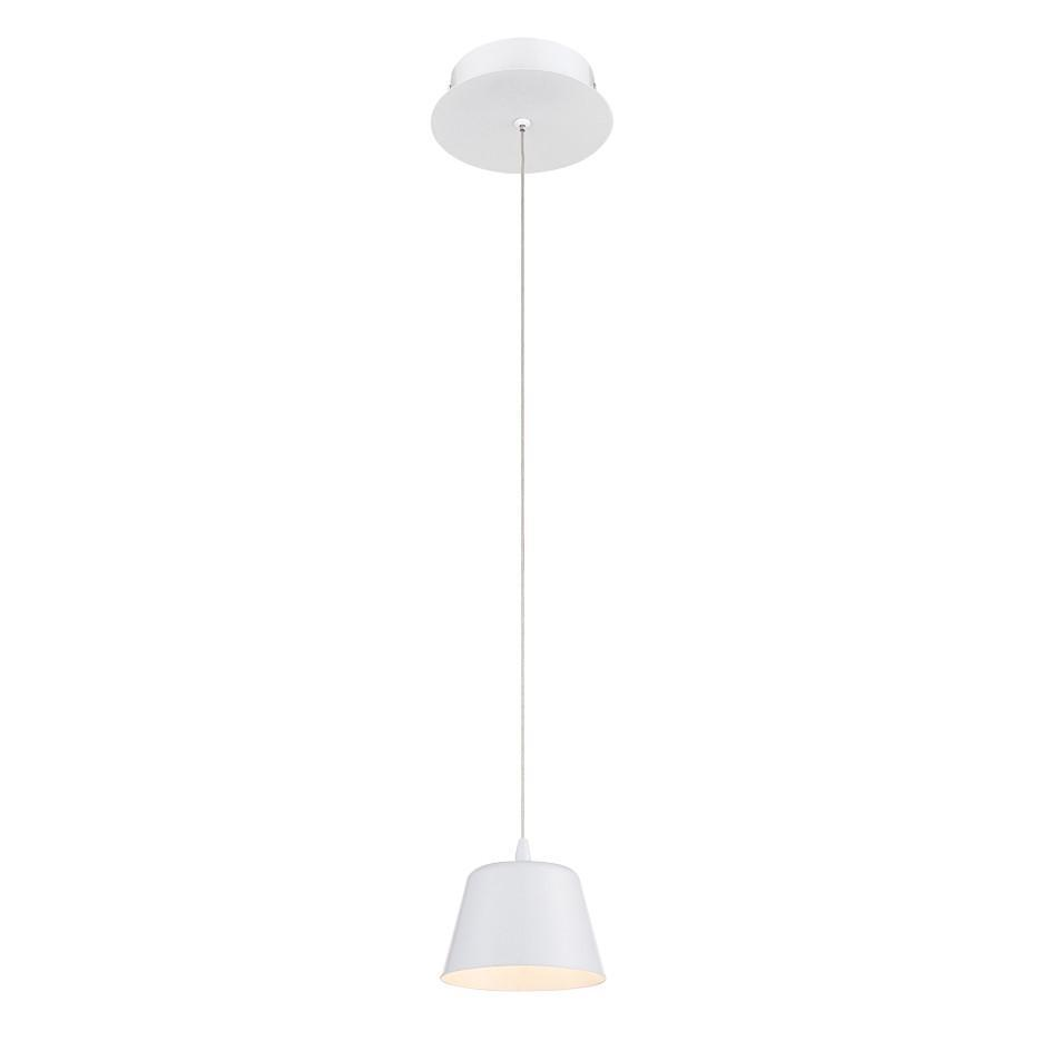 Eurofase Bowes 1 Light LED Pendant White Model: 28237-020