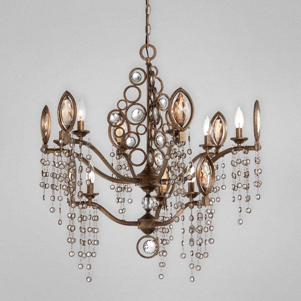 Eurofase Capri, 9 Light Chandelier, Bronze Model: 25656-015