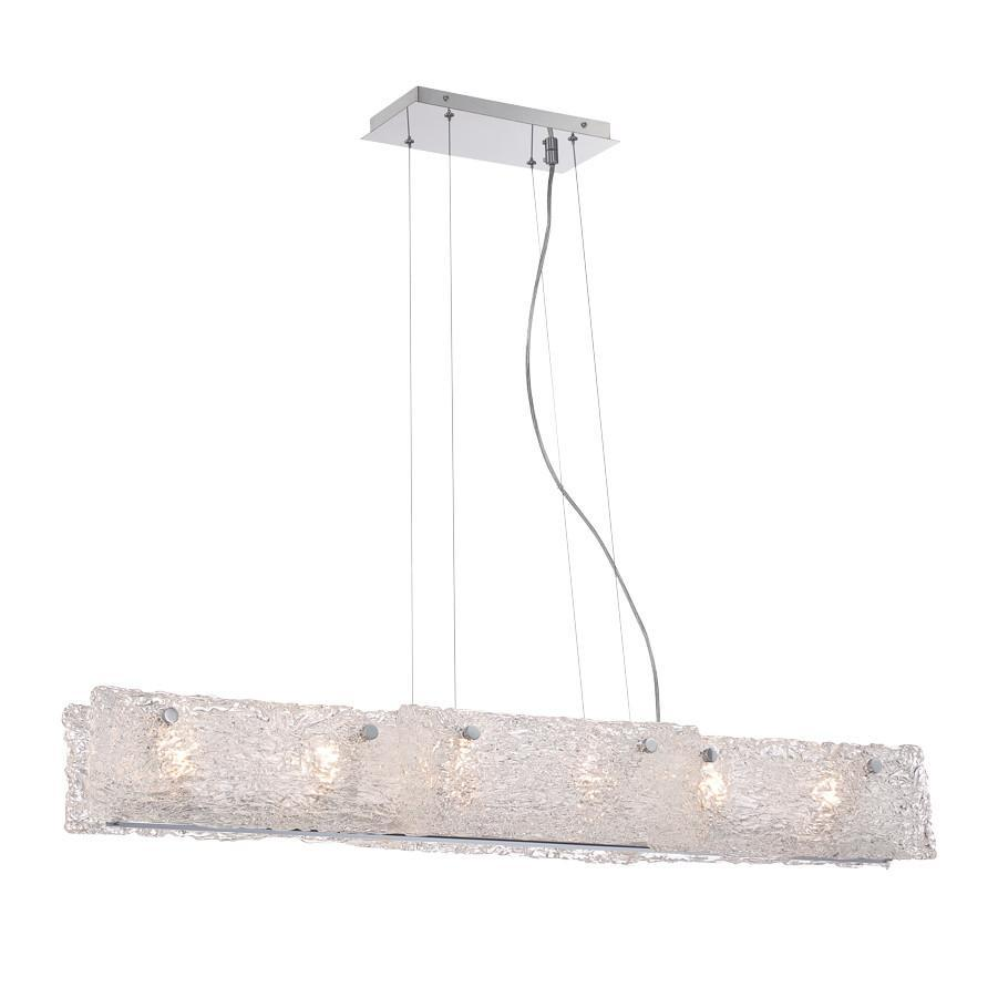 Eurofase Caramico 6 Light Linear Pendant Model: 28142-010