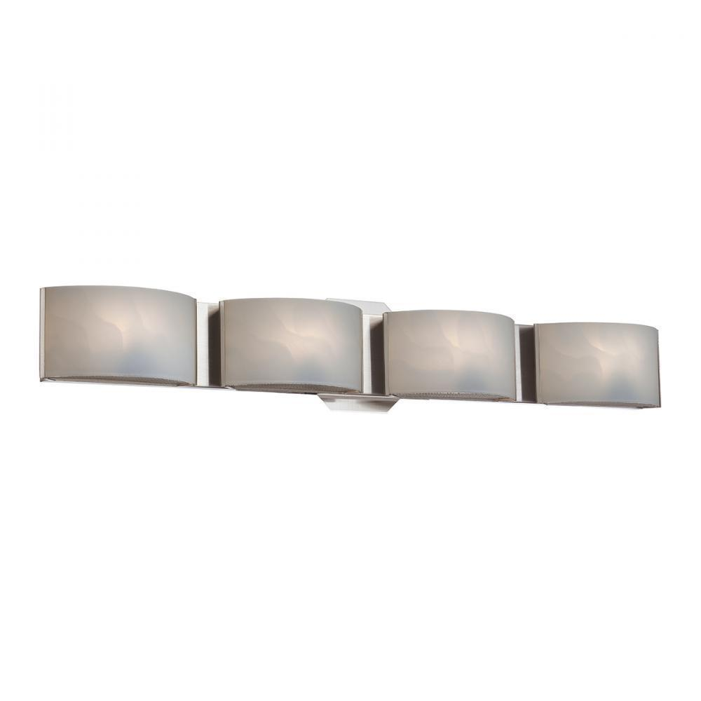 Eurofase Dakota 4 Light Bath Bar Chrome White Model: BR-4DAK-05