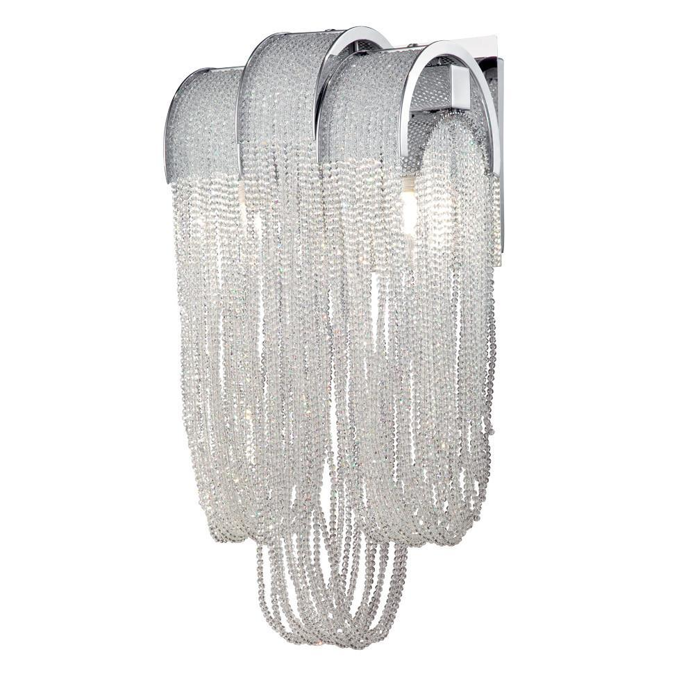 Eurofase Sage, 2 Light Wall Sconce, Chrome Model: 28103-011
