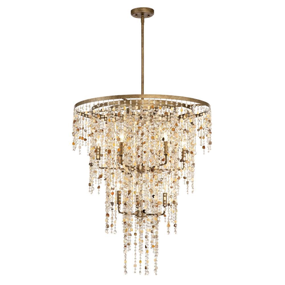Eurofase Savannah 9 Light Pendant Bronze Model: 28321-010