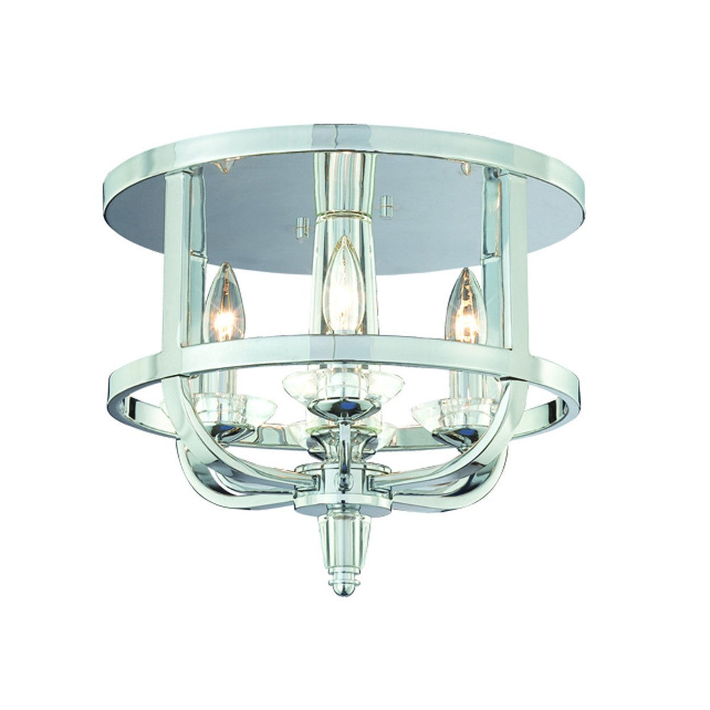 Eurofase Senze 4 Light Flushmount Chrome Model: 20312-015