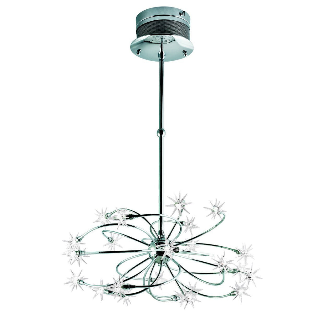 Eurofase Starburst 24 Light Chandelier Glass/chr Model: 12899-012