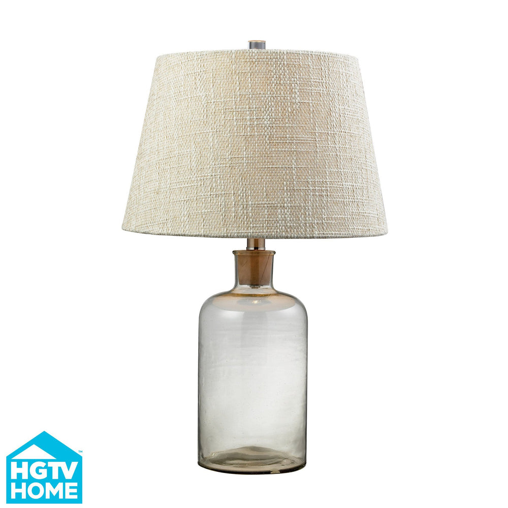 HGTV137 Dimond Voyage Collection HGTV Home Clear Glass Bottle Table Lamp