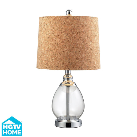 Hgtv142 Dimond Voyage Collection Hgtv Home Clear Glass Table Lamp