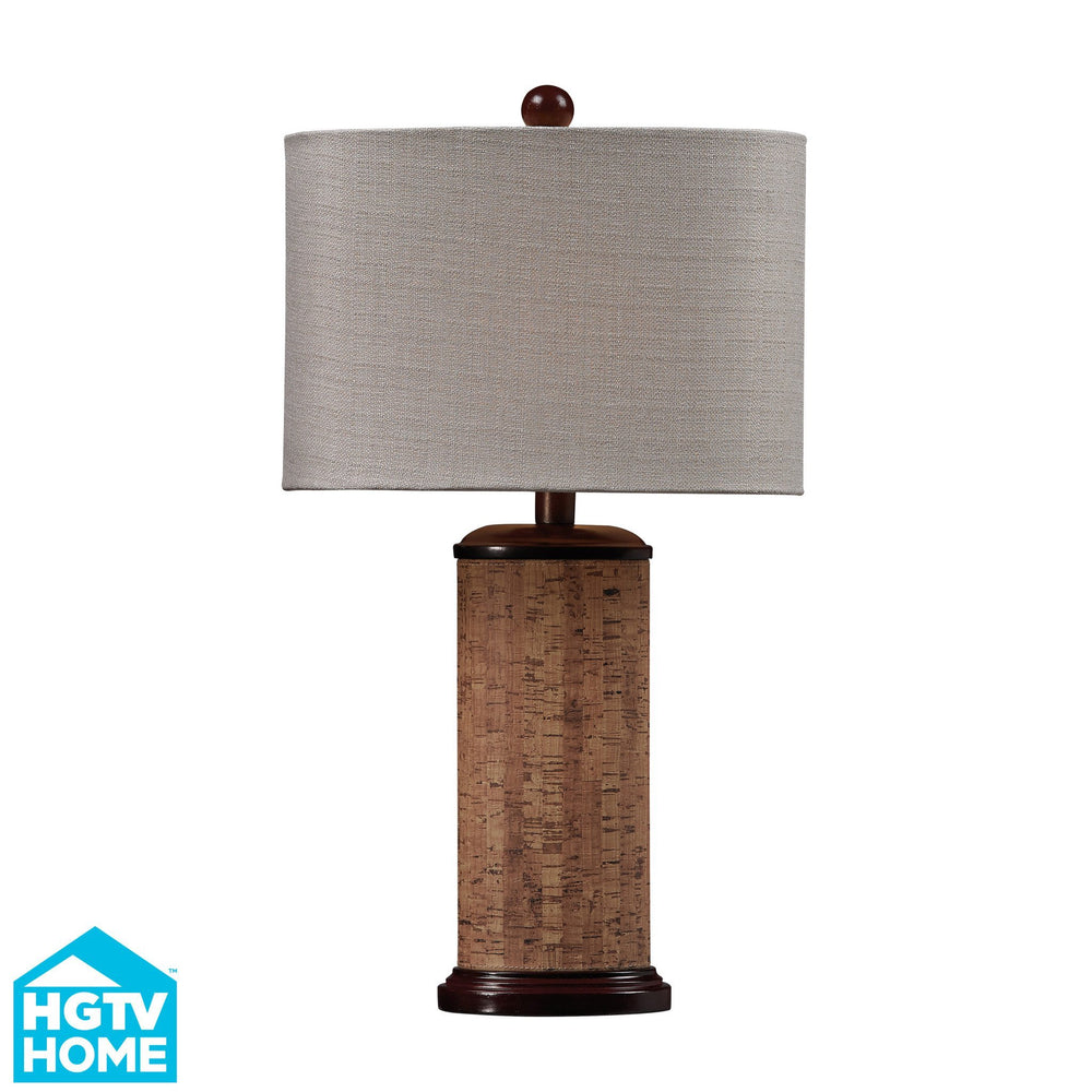 HGTV159 Dimond Voyage Collection HGTV Home Brown And Natural Colored Cork Table Lamp