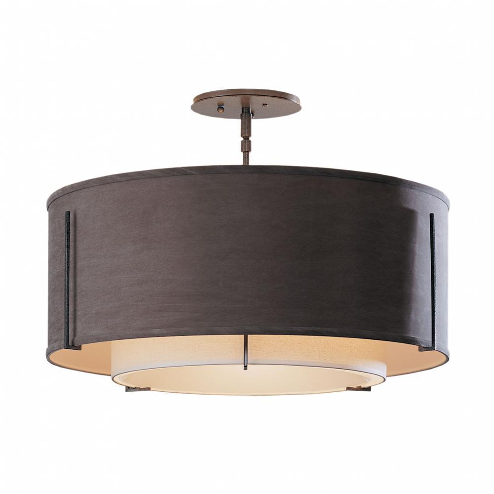 Hubbardton Forge Exos Double Shade Semi Flush Model: 126503-FLU-82-SB1590-SA2290