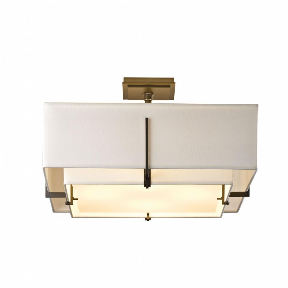 Hubbardton Forge Exos Square Double Shade Semi Flush Model: 126510-SKT-84-SA1605-SA2012