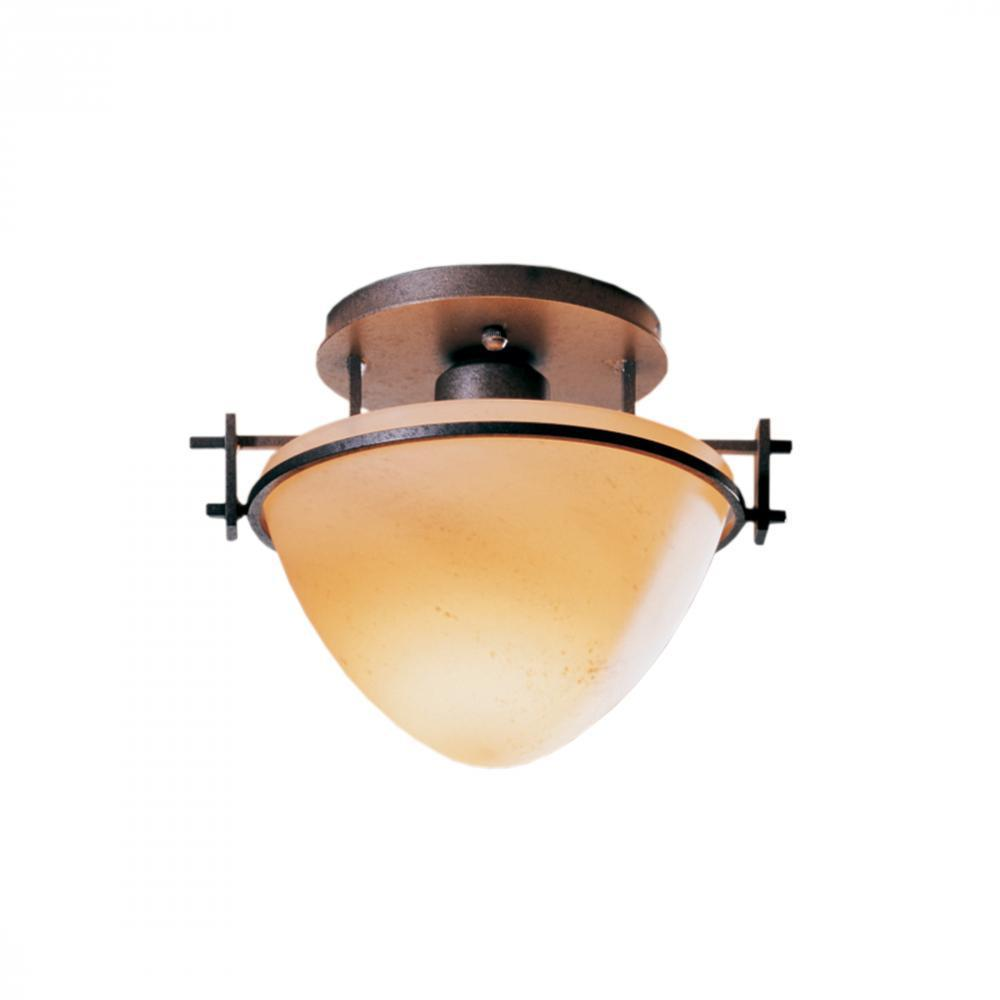 Hubbardton Forge Moonband Small Semi Flush Model: 124247-SKT-82-GG0080