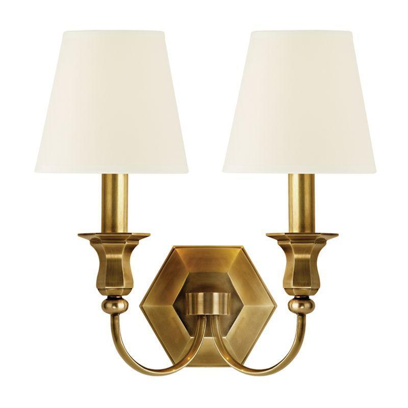 Hudson Valley Charlotte 2 Light Wall Sconce Model: 1412-AGB-WS