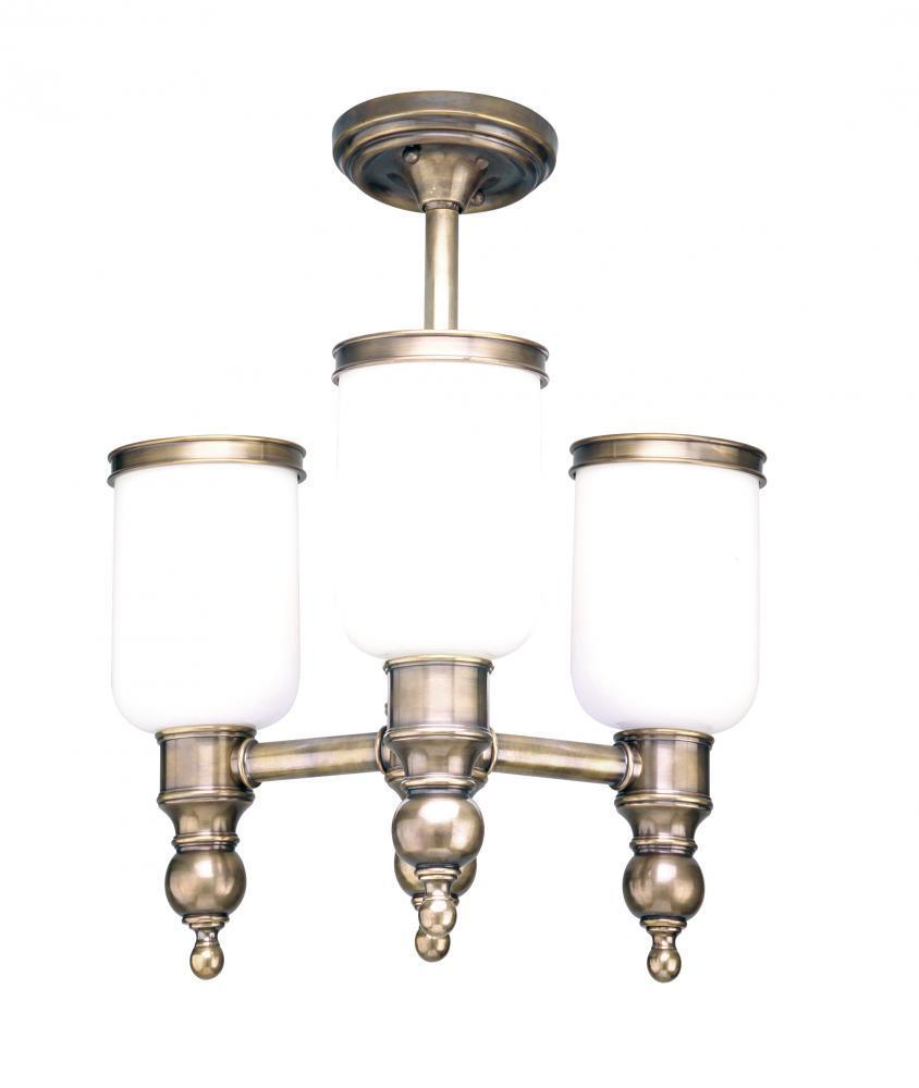 Hudson Valley Chatham 3 Light Semi Flush Model: 6313-DB