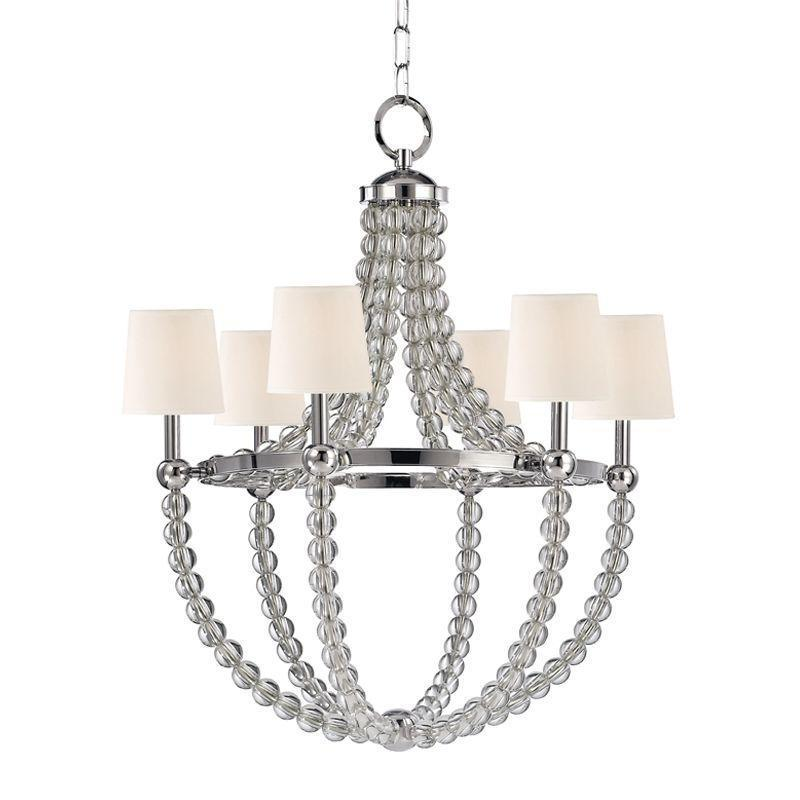 Hudson Valley Danville 6 Light Chandelier Model: 3116-PN-WS