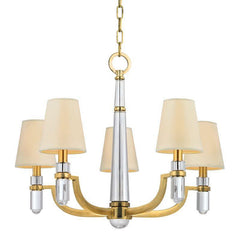 Hudson Valley Dayton 5 Light Chandelier Model: 985-AGB