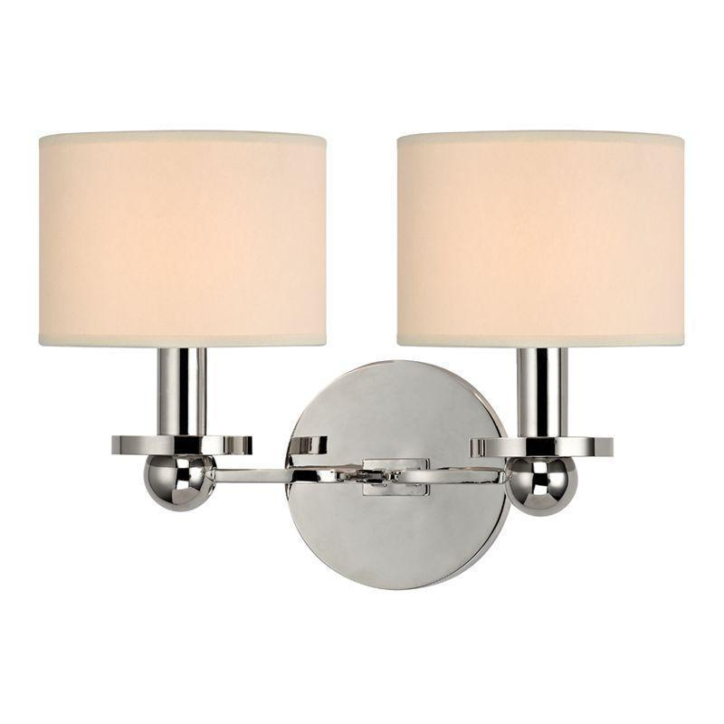 Hudson Valley Kirkwood 2 Light Wall Sconce Model: 1512-AGB