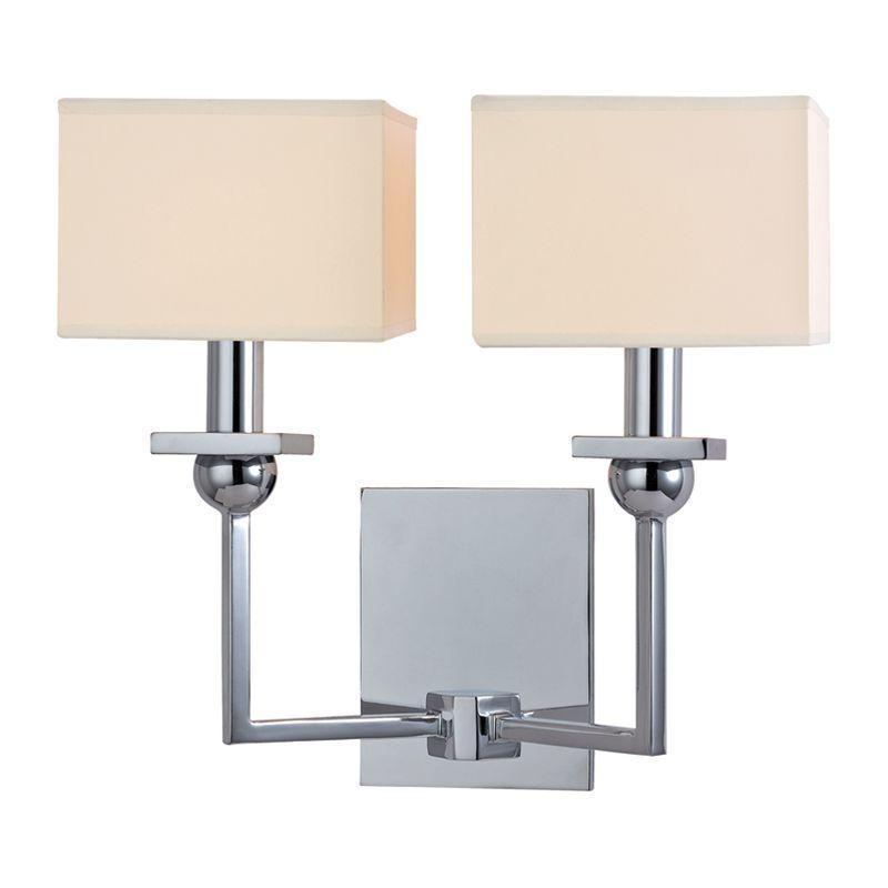 Hudson Valley Morris 2 Light Wall Sconce Model: 5212-AGB
