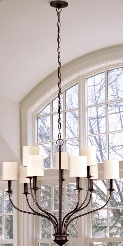 Hudson Valley Sheffield 9 Light Chandelier Model: 7219-PN