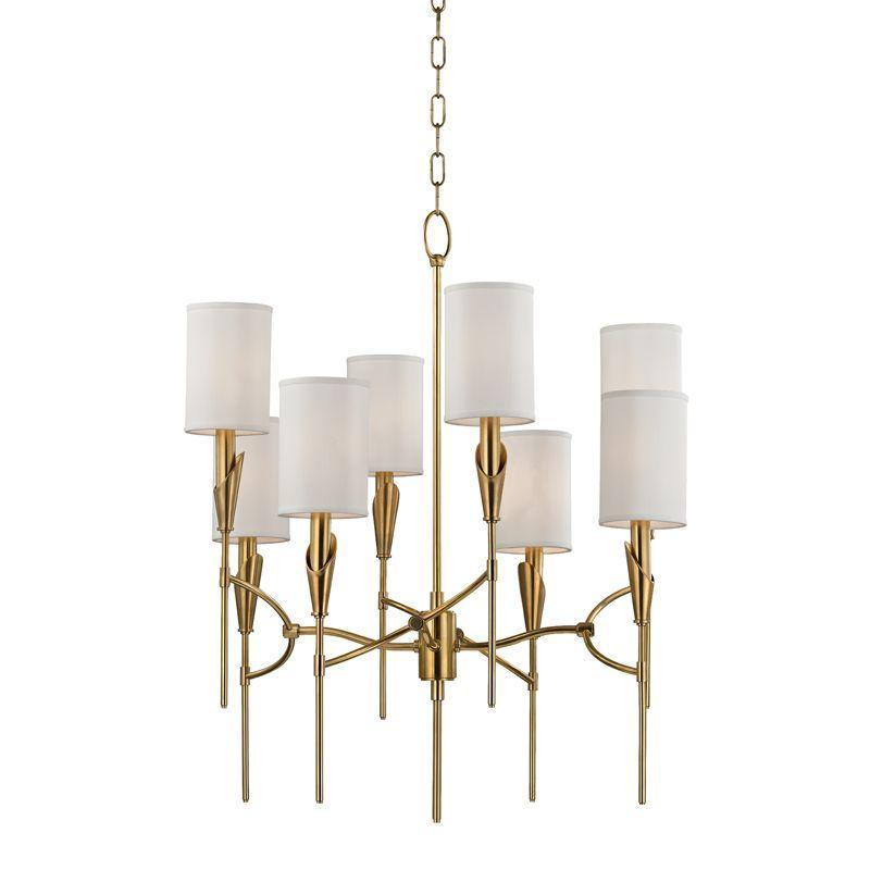 Hudson Valley Tate 8 Light Chandelier Model: 1304-AGB