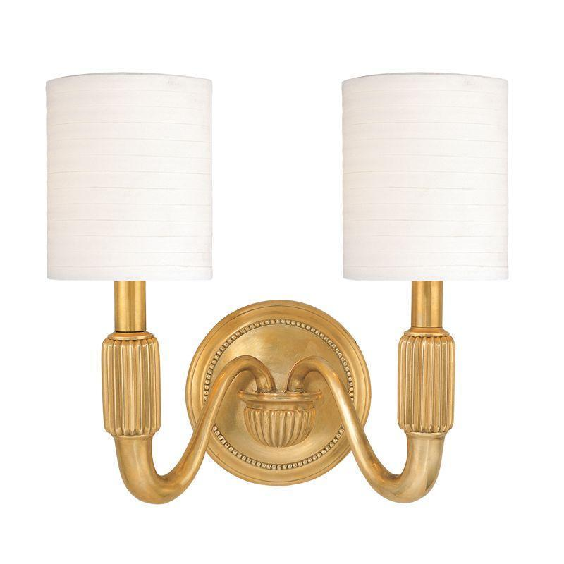 Hudson Valley Tuilerie 2 Light Wall Sconce Model: 402-AGB