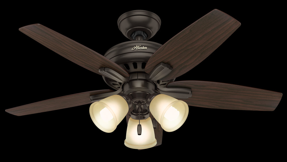 Hunter Newsome Fan With 3 Lights 42 Inch Model: 51084