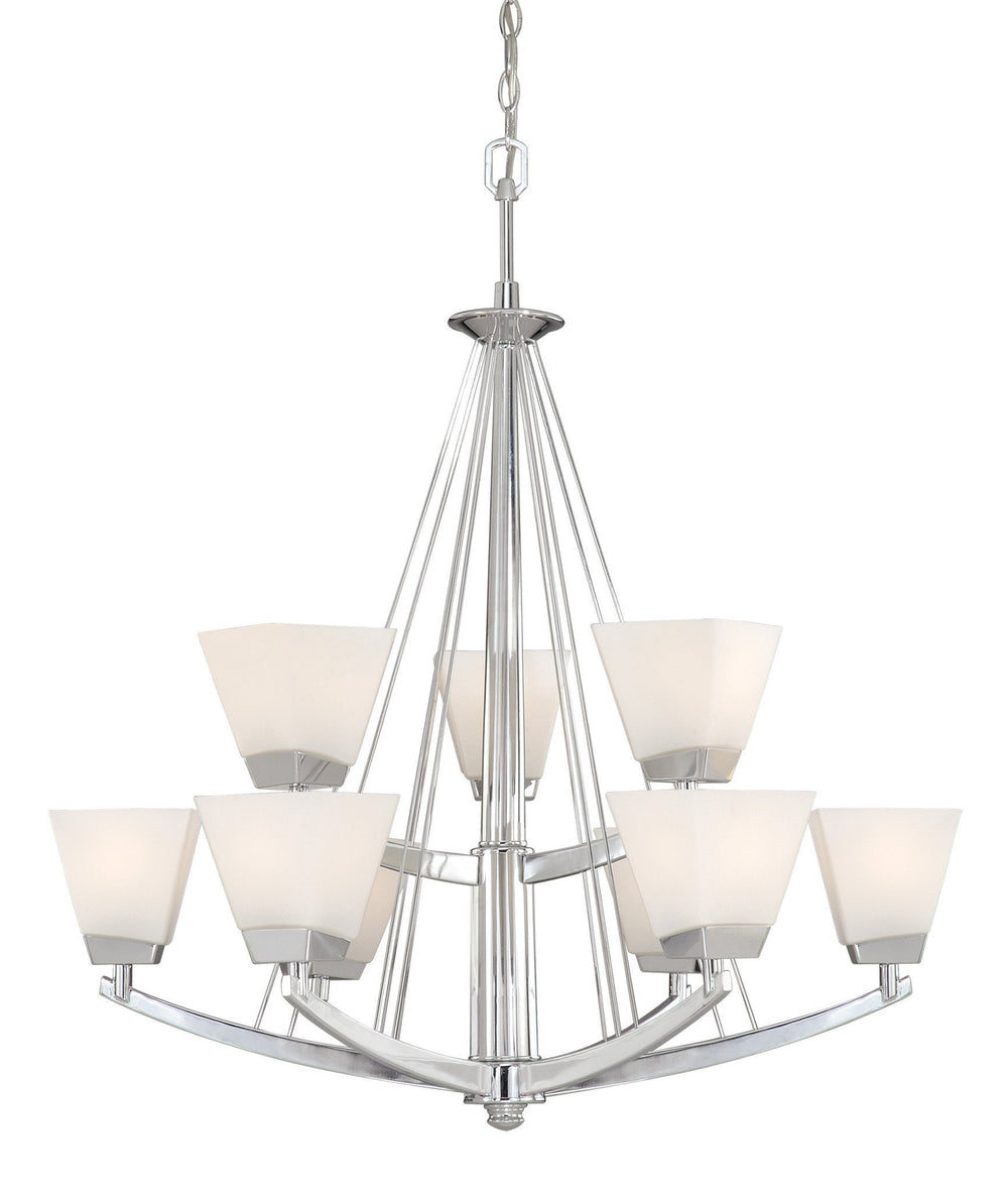 KD-CHU009CH Vaxcel Kendall 9L Chandelier Chrome
