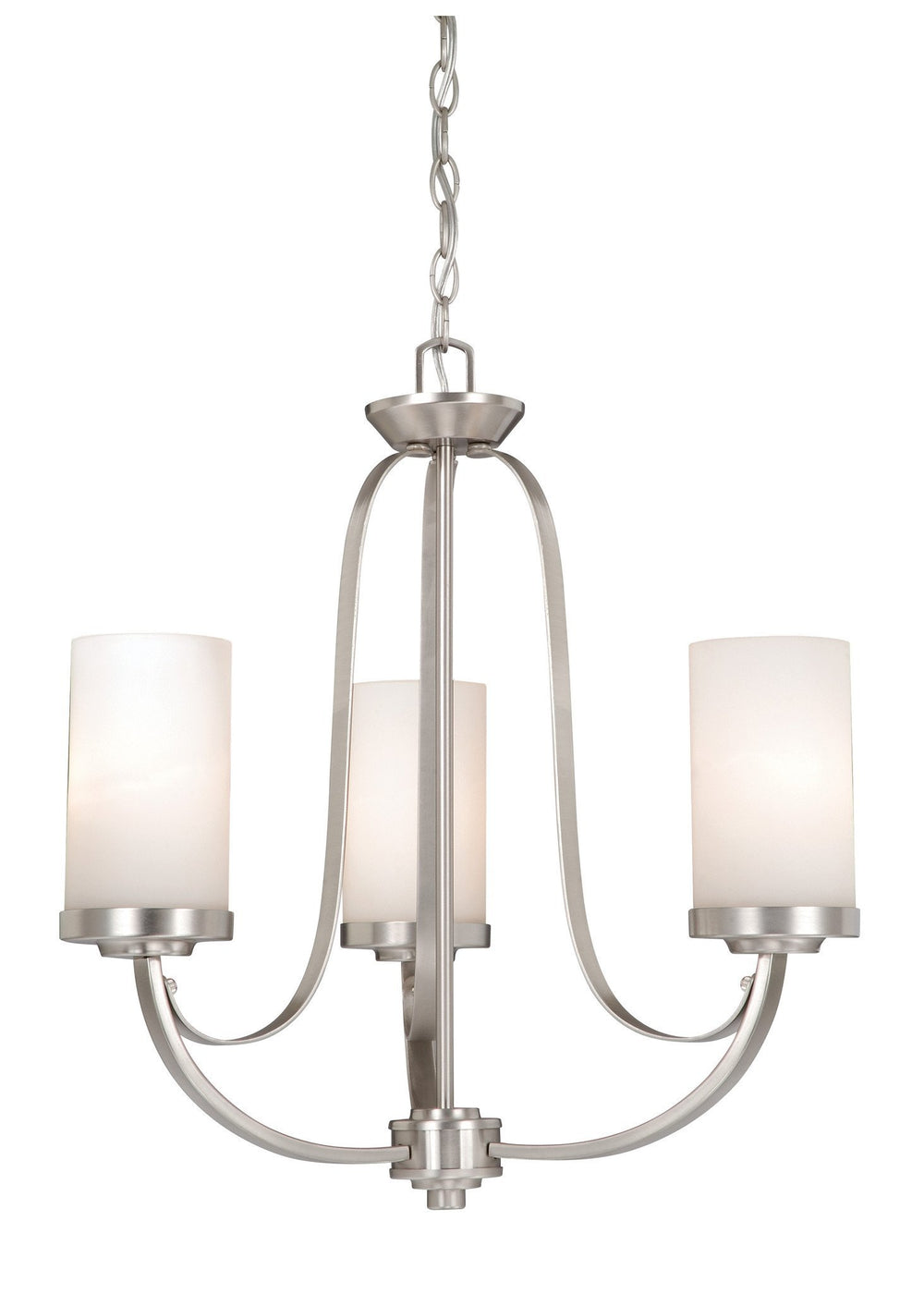 OX-CHU003BN Vaxcel Oxford 3L Chandelier Brushed Nickel