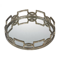 Sterling 114-89 Hucknall Iron Scroll Mirrored Tray - Large