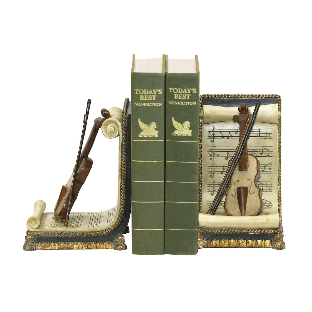 Sterling 91-16138 Pair Of Violin And Music Bookends