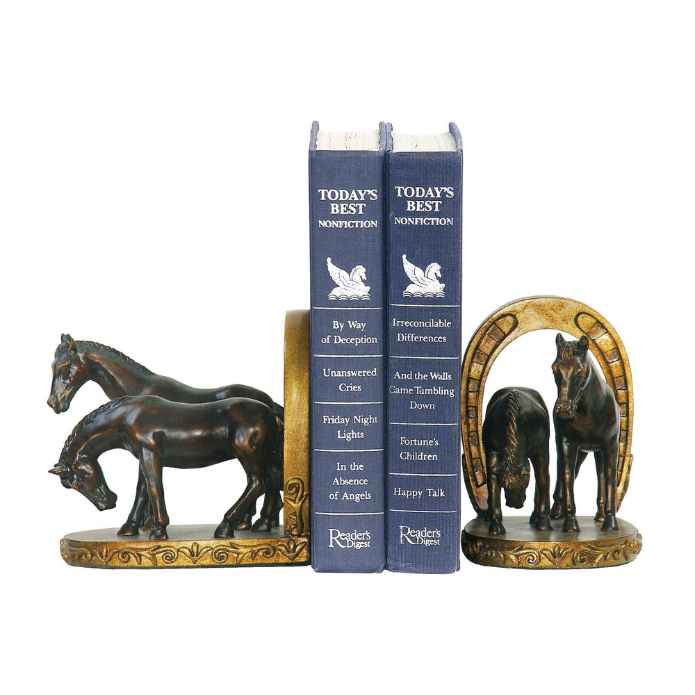Sterling 91-20621 Pair Horse And Horseshoe Bookends