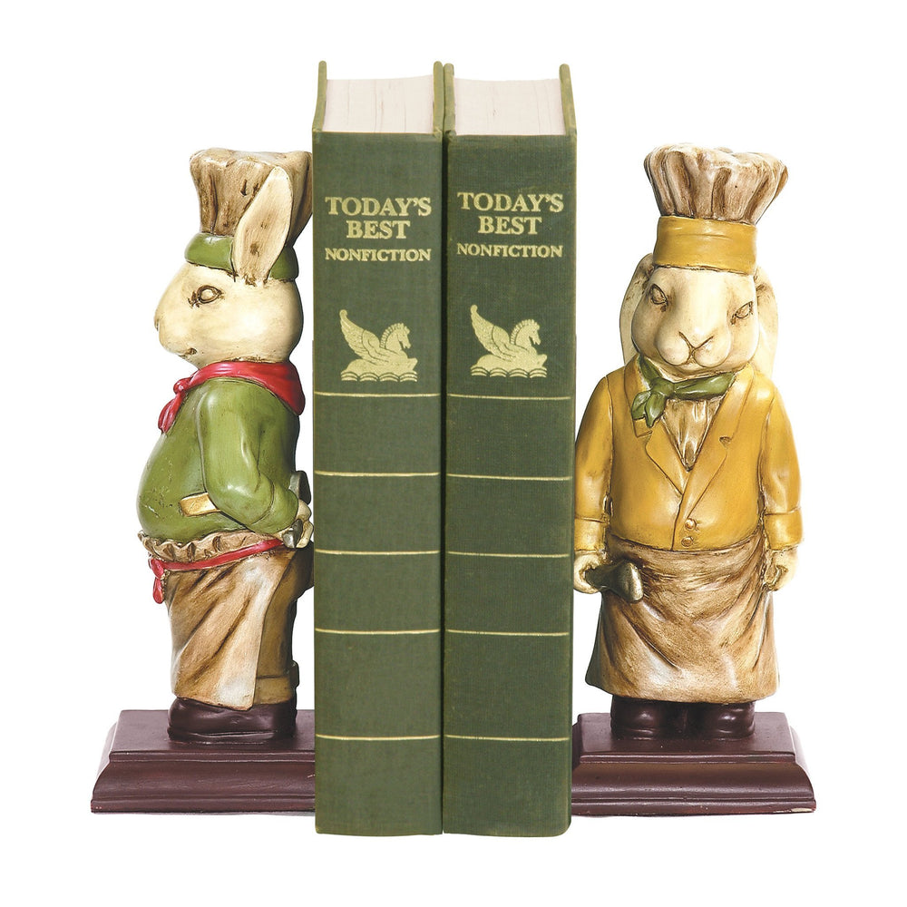 Sterling 91-27995 Pair Of Chef Bunny Bookends