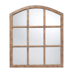 Sterling DM2022 Union Wood Mirror In Faux Window Design N A Natural Oak Finish