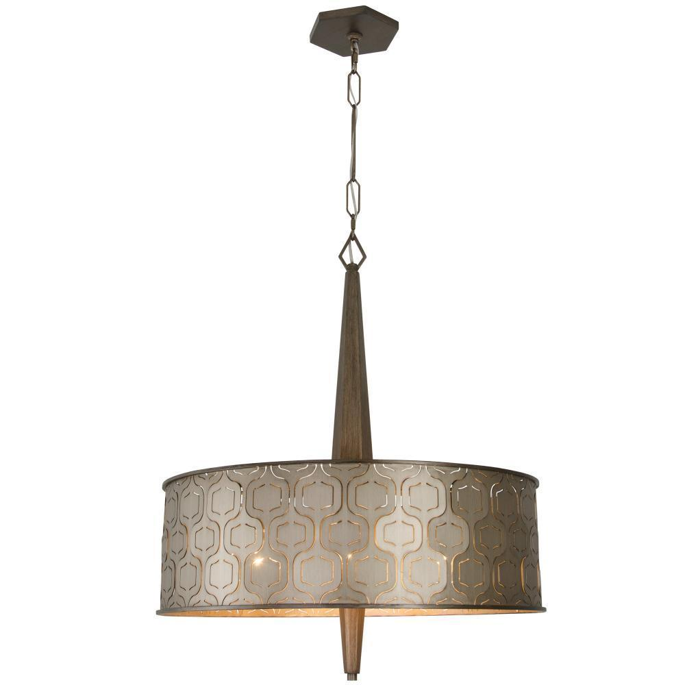 Varaluz Iconic 6 Light Pendant  Champagne Mist Model: 279P06CM