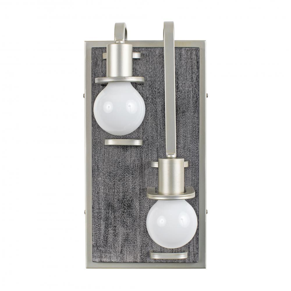Varaluz Lofty 2 Light Right Sconce Silverad Gray Model: 268W02RSOG
