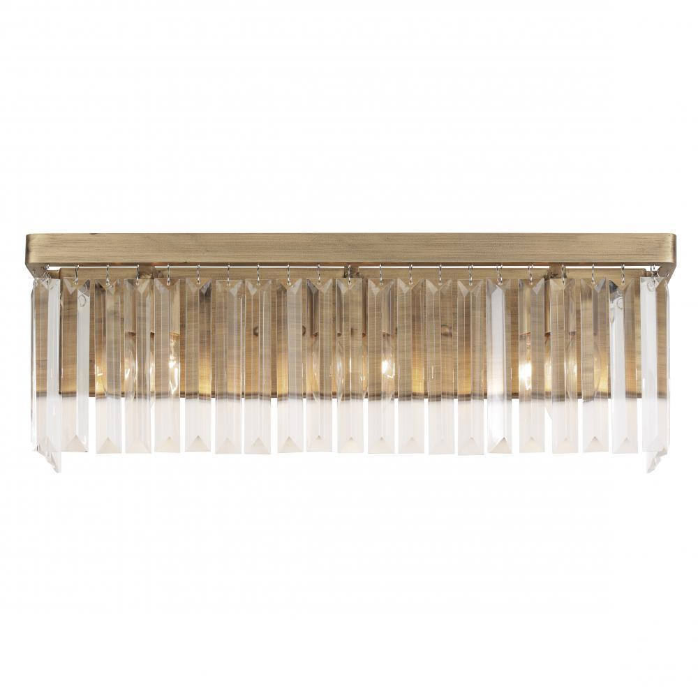 Varaluz Social Club 3 Light Bath Havana Gold Model: 297B03HG