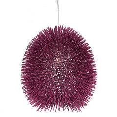 Varaluz Urchin 1 Light Pendant  Plum Model: 169P01PL