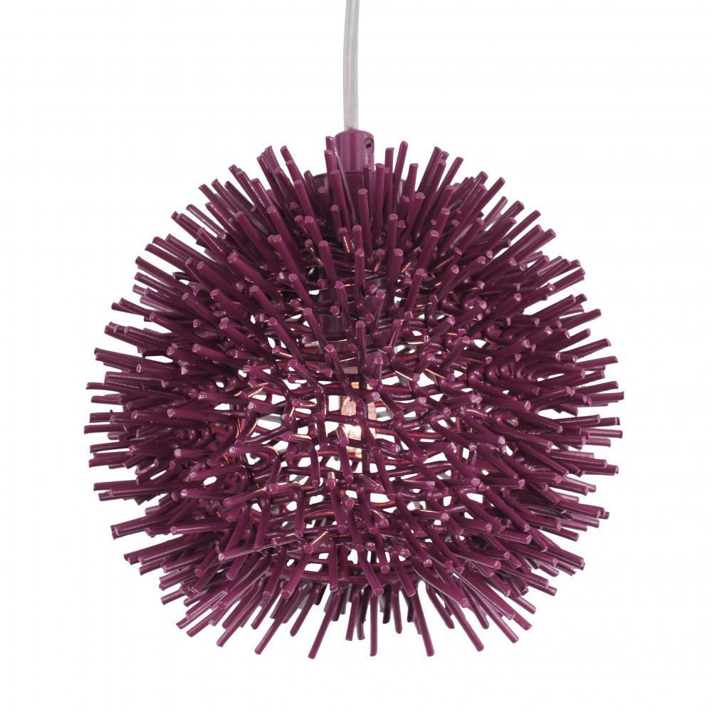 Varaluz Urchin 1 Light Uber Mini Pendant Plum Model: 169M01SPL