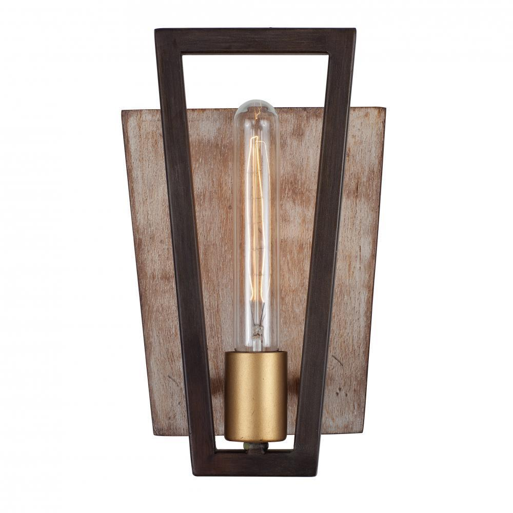 Varaluz Zag 1 Light Sconce Dark Oak Model: 260W01DO